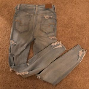 Ripped American Eagle jeggings